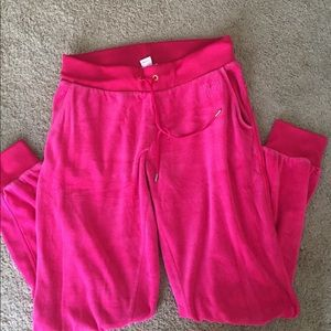 Juicy couture velour sweatpants pants pink small
